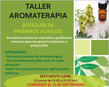 Taller de Aromaterapia - Botiquín de Primeros Auxilios